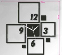 Wholesale funlife cm in Fashion DIY Mirror Sticker Wall Clock wc1048