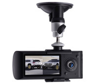 1 channel 2.7 LCD Car Camera Recorder With GPS Logger and Dual Lens Video 140 degree 3D Accelerating G-Sensor X3000 Car DVR