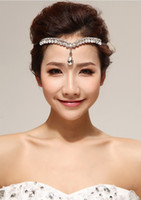 Wholesale 2014 Fashion Crystal Rhodium Tiara Crown Hair Accessories For Wedding Quinceanera Prom Hair Chain Pageant Hair Jewelry Accessories Headpiece