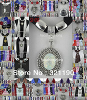 Wholesale Mixed design amp colors Cheap price scarf jewelry with beads pendant scarves heart charms necklace polyester