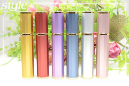 Wholesale Cute M Travel Perfume Bottle Scent Atomizer Spray Refillable Empty Makeup Aftershave Colorful Metal Bottle Best Gifts HK Post Free PB011