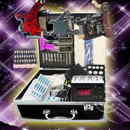 Wholesale USA warehouse Beginner Cheap Tattoo starter Kits Guns Machines Ink Sets Equipment Needle Tip Grip Power Supply K201B