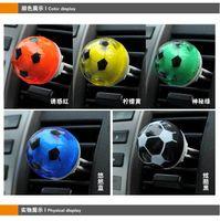 Gel air freshener for car - Creative Football Shape Air Freshener Perfume Diffuser for Auto Car perfume holder colors Mix Order