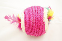 Wholesale 45pcs Cute Cotton Ball Design Toy Collection for Cat Kitty Pet Color Assorted