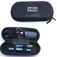 Wholesale Electronic Cigarette Ego kit Ego t Electroplating Battery E CIG CE5 Atomizer mAh mAh mAh Double E cigarette With Zipper Carry Case