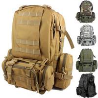 Backpacks bag travel - Outdoor mountaineering climbing backpack multifunctional Airsoft tactical backpacks travel bag camping Hiking bag