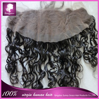 Wholesale Loose curl Brazilian hair lace frontal