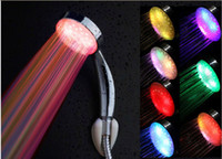Wholesale Free shiping led Color Changing Colorful LED Shower head LD8008 A14