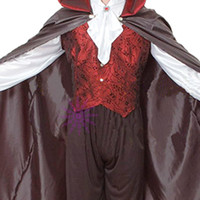 Wholesale Halloween Party Masquerade gothic vampire dentures cloak role playing costumes male JJ0066