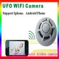 Wholesale Spy Smoke Detector WiFi Wireless IP Camera Hidden Convert Nanny Camera Video Recorder