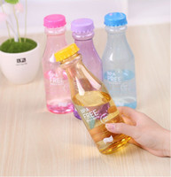 Wholesale Transparent Beverage Bottles Colorful Water Bottles Portable Unbreakable Sports Drink Cups Sealed Leakproof Kettle