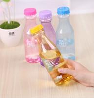 Wholesale Transparent Beverage Bottles Colorful Water Bottles Portable Unbreakable Sports Drink Cups Sealed Leakproof Kettle