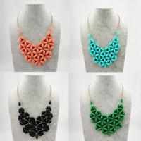 Western fashion bib necklace cheap - Cheap Green White Coral Blue Black Bib Necklace Daisy Flower Floral Bubble Choker Collar Statement Jewelry Elegant Style BN083