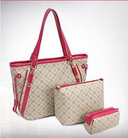 Wholesale Womens Piece Suit Bag Purse Lady Handbag Tote Shoulder Hand Bag Wallet Lash Pack Date Travel Bag Functional Bag Leisure Bags Cheap Bags