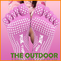 Wholesale Yoga Socks Anti skid Sports Sock Skid Massage Five Toe Socks