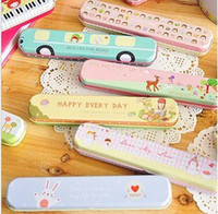 Wholesale Pencil Pen Case Box Holder Pouch Gift Stationery School New Cute Cartoon New semester students must