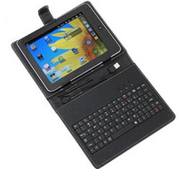 9 inch 9 inch tablet case - Black inch usb keyboard micro usb keyboard leather case with stand holder for tablet pc T009