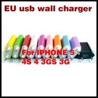 Wholesale USB charger US EU USB Travel Power Adapter Charger Plug For iPhone S G s c iPod iphone GS G