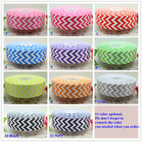 Wholesale 1 inch chevron print colors printed grosgrain ribbon hairbow diy party decoration OEM mm P1545