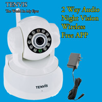 Wholesale White Tenvis Wireless WIFI IR Internet IP Security Camera Baby Pet Monitor Webcam Video surveillance System IP Camera