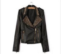 Wholesale Small handsome leather punk rivet machine wagon jacket