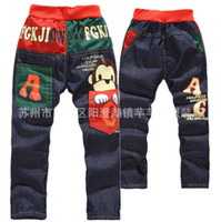 Wholesale Hot Sale New Boys pants Children Jean baby pants Boy s Jeans Cowboy pants cartoon pants trousers