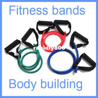 Wholesale Resistance Band Stretch Fitness Tube Latex Cable Workout Yoga Muscle Exercise Rope Tool Free Drop shipping