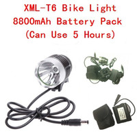Wholesale Mail Free Set Cree XMLT6 Bike Light LED1200 Lumens Mode Waterproof Bicycle Light mAh Battery Pack Charger