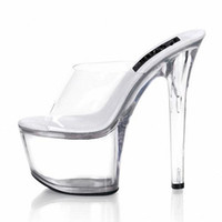 Women Stiletto Heel PU stripper shoes Free postage fees 17cm high-heeled shoes lady platform crystal sandals low price sexy clubbing 6 inch high heels