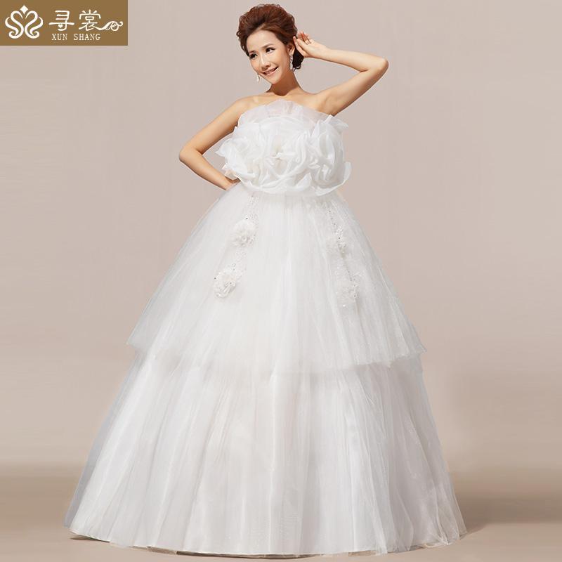 2013 Latest Wedding Elegant Wedding Dress Bra Waist Big Yards ...