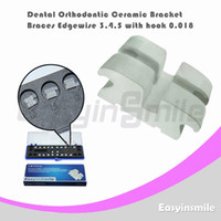 No Manual No Dental Orthodontic Edgewise Ceramic Bracket Brace 3,4,5 with Hook 0.018