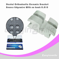 No No Manual Dental Orthodontic Edgewise Ceramic Bracket Brace with No Hook 0.018