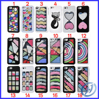 Wholesale For iphone Colorful Bling Swarovski Case Cover For iPhone S G iphone4S Luxury Diamond Case