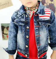 Boy casual jacket - Child Clothing Jeans Jacket Fashion Stripe Coat Children Outwear Blue Denim Jacket Casual Coat Boys Jackets Kids Clothes Long Sleeve Tops