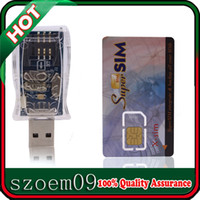 Wholesale 16 in GSM Cell Phone Magic Super SIM Max Card Set w USB Card Reader Software CD