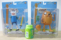 Wholesale New Cartoon Network Adventure Time JAKE and FINN PVC Doll Toys Figure inch EMS