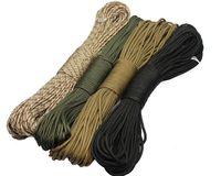life-saving rope climbing rope - Outdoor Survival meter Life saving Rope for Climbing Mountain Parachute Lanyard Free Ship Skeleton Black Silver black Khaki