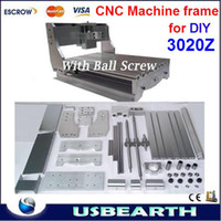 Wholesale CNC engraving machine lathe bed frame with ball screw DIY cnc part for Z DQ and cnc Spindle motor