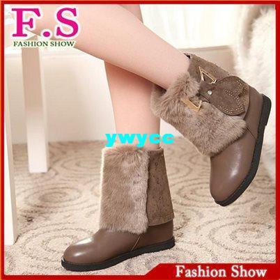 Short Women Winter Boots Casual Dress Imitation Fur Warm Women shoes