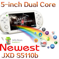Wholesale Newest game console player inch dual core JXD S5110b GB DDR3 GB flash king console