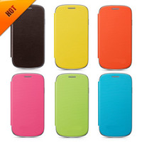 Cheap Leather flip leather cases Best For Samsung S3 mini leather cover S3 mini flip cover