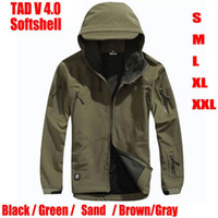 Wholesale TAD V Men Softshell Windbreaker Jacket For Outdoor Hunting Camping Waterproof Army Coat Outerwear Hoodie