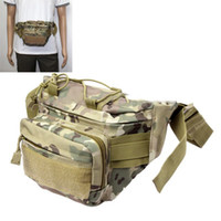 Wholesale Casual Camouflage Patterned Waist Bag Fanny Pack with Adjustable Band amp Zipper Pockets Army Green