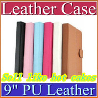 Wholesale China price holster colorful Leather Case cover for inch Android tablet pc with belt with AA24