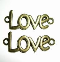 Wholesale 60pcs Antique Silver Bronze Alphabet quot LOVE quot Jewelry Connectors mm Metal Alloy Diy Jewelry Making