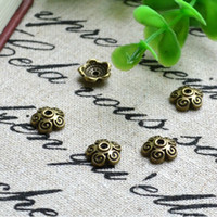 Wholesale Flower End Cap Antique Bronze Plated Goblet Metal Bead Caps Spacers Jewelry Findings amp Components