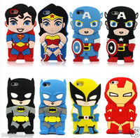 New 3D Cute Superhero DC Chara- Covers Silicone Case Cover Fo...