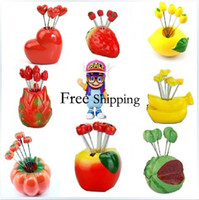 Wholesale Ceative Many Designs Shapes Fruit Fork Mini Cocktail Forks Small Fork for Home Decoration FF801