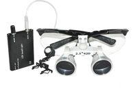 Cheap Dentist Dental Surgical Medical Binocular Loupes 2.5X 420mm Optical Glass Loupe + LED headlight