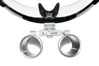 Cheap Portable Brand New Black Dentist Dental Surgical Medical Binocular Loupes 2.5X 420mm Optical Glass Loupe